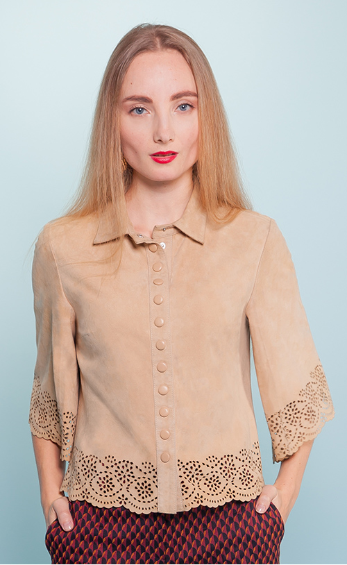 Y-1206 BARROW Laser Cut Shirt