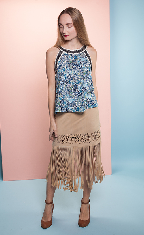 Y-4215 RIVINGTON Fringe Skirt